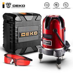 DEKO LL5 Series 5 Line 6 Points Red/Green Laser Level Self-leveling Horizontal&Vertical 360 Degree Adjustment Higher Visibility