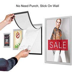 sviao небольшой размер, пвх магнитная рамка прозрачный настенный клей изображение Плакат отображение документов рамка пластиковый держатель...