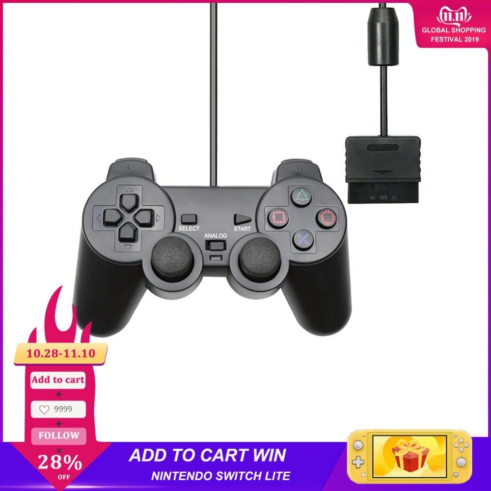Pour PS2 Manette de Manette de Manette filaire pour playstation Dualshock 2 Controle Mando Joystick pour Console playstation 2 accessoire