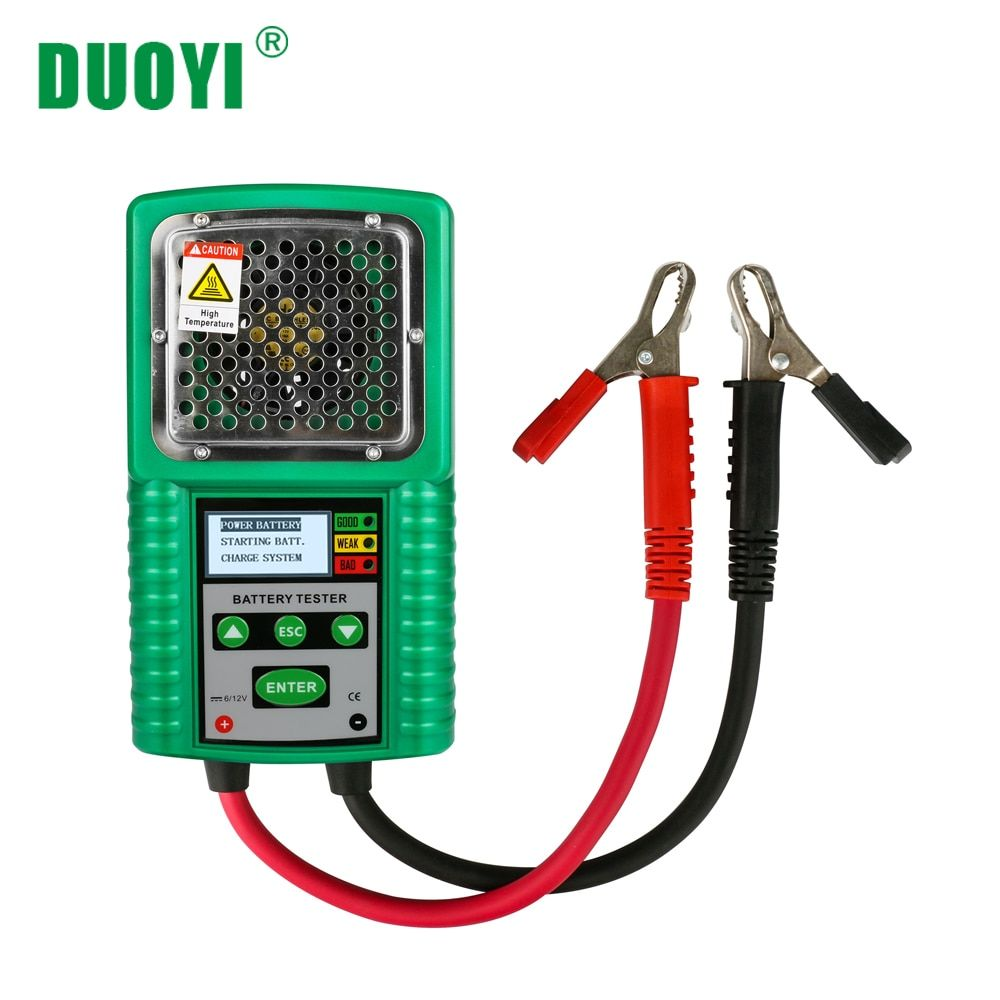 DUOYI DY226A 3 In 1 Auto Batterie Tester Traktion 6V 12V DC Auto Power Volllast Ausgangs Ladung CCA test Werkzeug Batterie Messung
