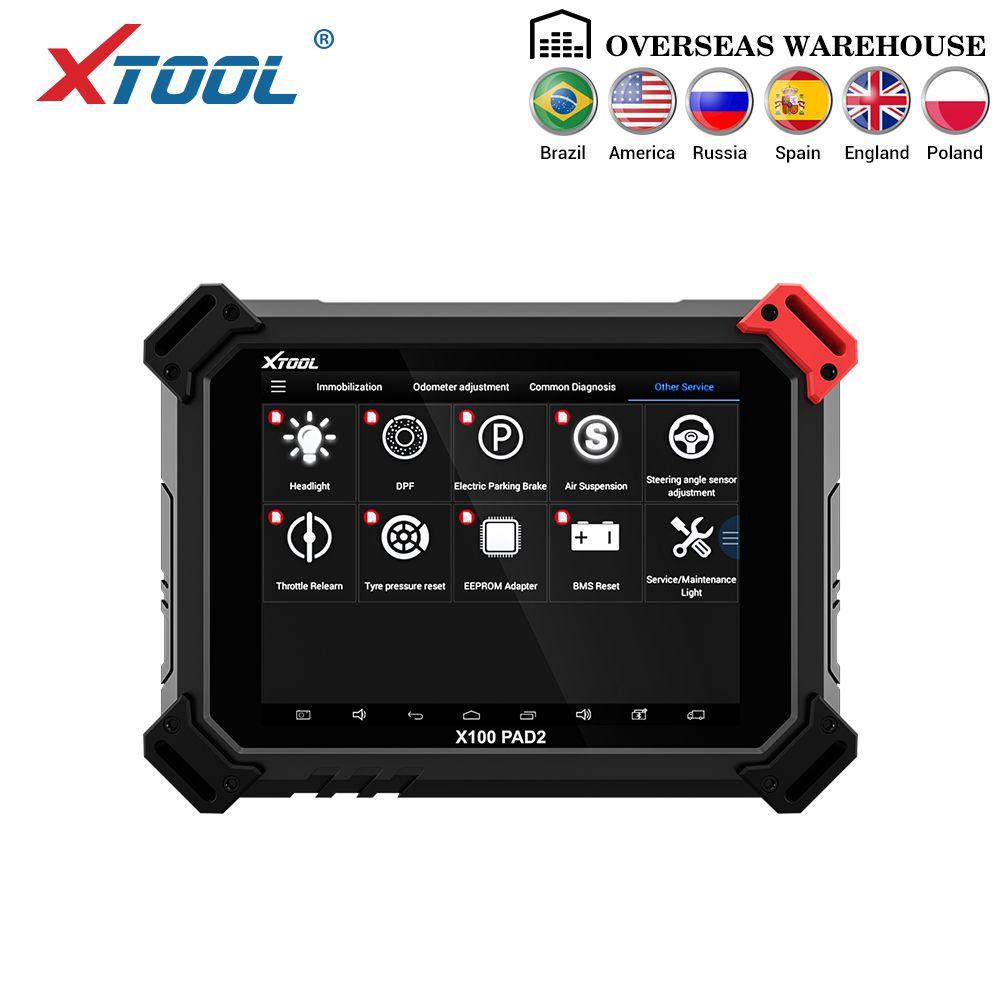X100 PAD2 OBD2 Auto Schlüssel Programmierer Entfernungsmesser-korrektur Werkzeug Code Leser Auto Diagnose werkzeug mit Spezielle Funktion Update online