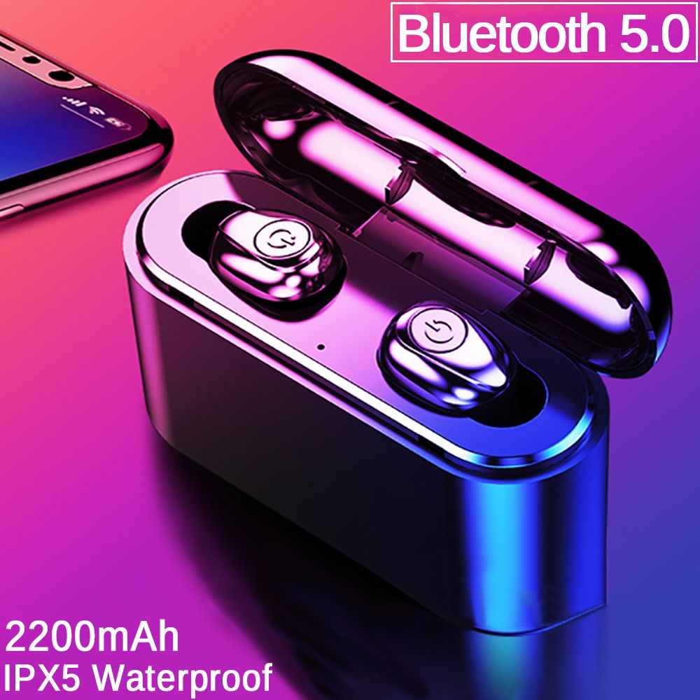 X8 TWS Bluetooth True Wireless Earbuds Bluetooth Earphones Mini TWS Waterproof Headfrees with 2200mAh Power Bank For All Phone