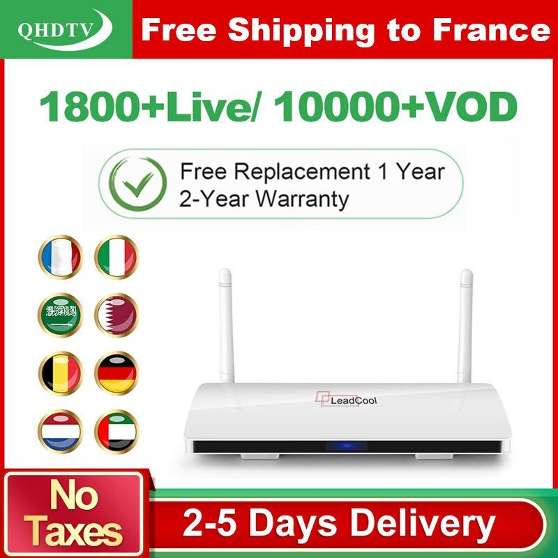 Leadcool QHDTV arabe France IPTV 1 an abonnement IPTV Android Rk3229 QHDTV Code IPTV belgique pays-bas France IP TV Box