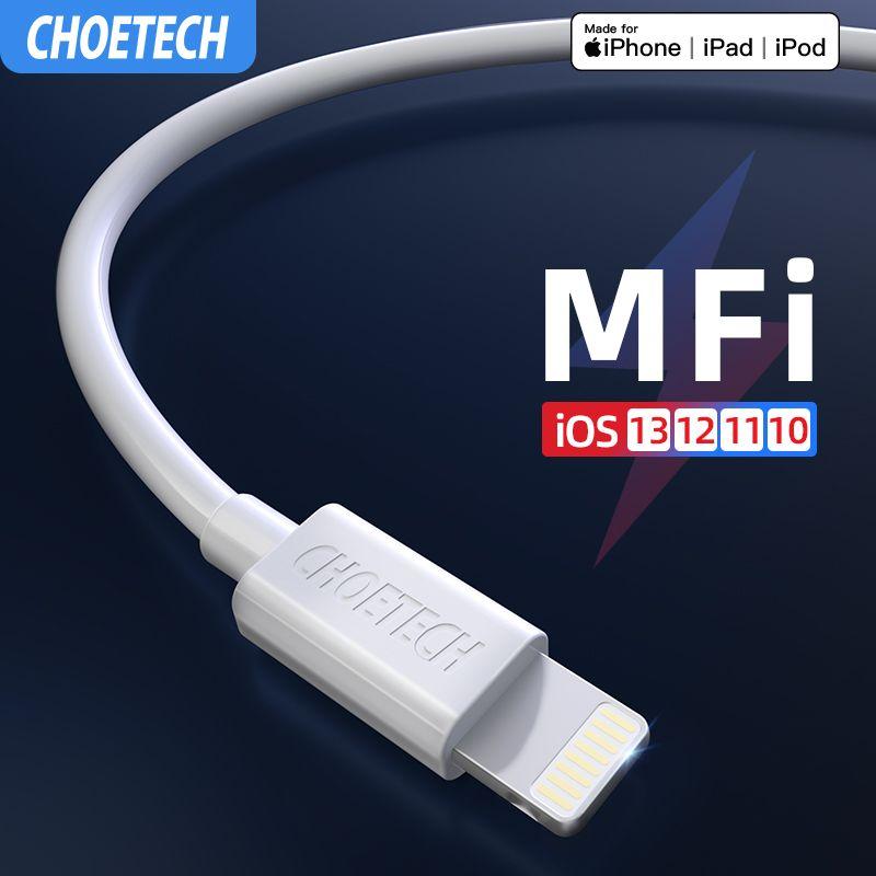CHOETECH MFi câble Usb pour iPhone 11 Pro Max 2.4A charge rapide USB chargeur câble de données pour iPhone câble X XR 8 7 6 XS Plus Max