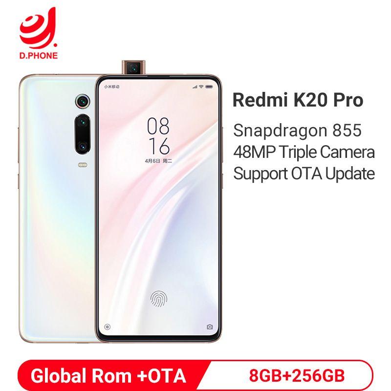 Globale Rom Xiaomi Redmi K20 Pro 8GB 256GB Snapdragon 855 Octa Core 4000mAh Pop-up Vorne kamera 48MP Hinten Kamera Smartphone