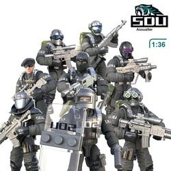 1:36 Scale SWAT Military Solider Figure Toys Set S.D.U army Action figures Team Model Combat Gun Game Toys For Boy Birthday Gift