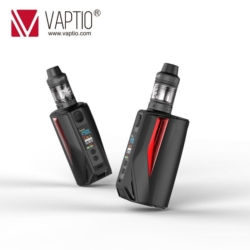 Electronic Cigarette Vape Vaptio 200w Box Mod N1 Pro lite KIT 2.0ML fitted External 18650 batteries 0.1-5.0ohm resistance Vapor