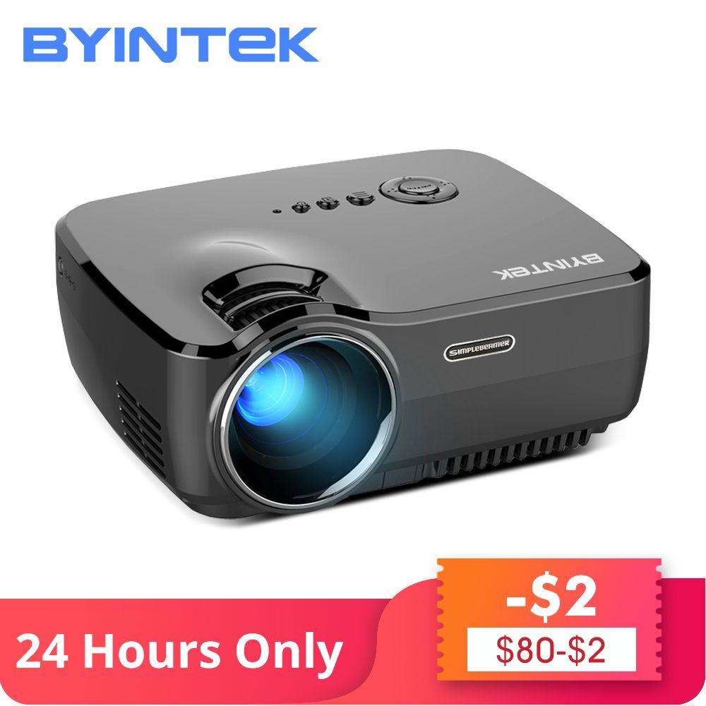 BYINTEK marque SKY GP70 Portable Mini LED cinéma vidéo numérique HD Home cinéma projecteur projecteur