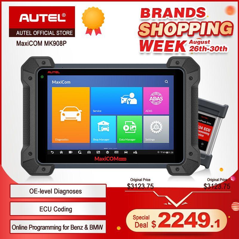 Autel MaxiCom MK908P OBD2 ECU Codierung Tester J2534 Programmierer OBD 2 Auto Auto Diagnose Scanner Tool PK Maxisys Elite MS908 pro