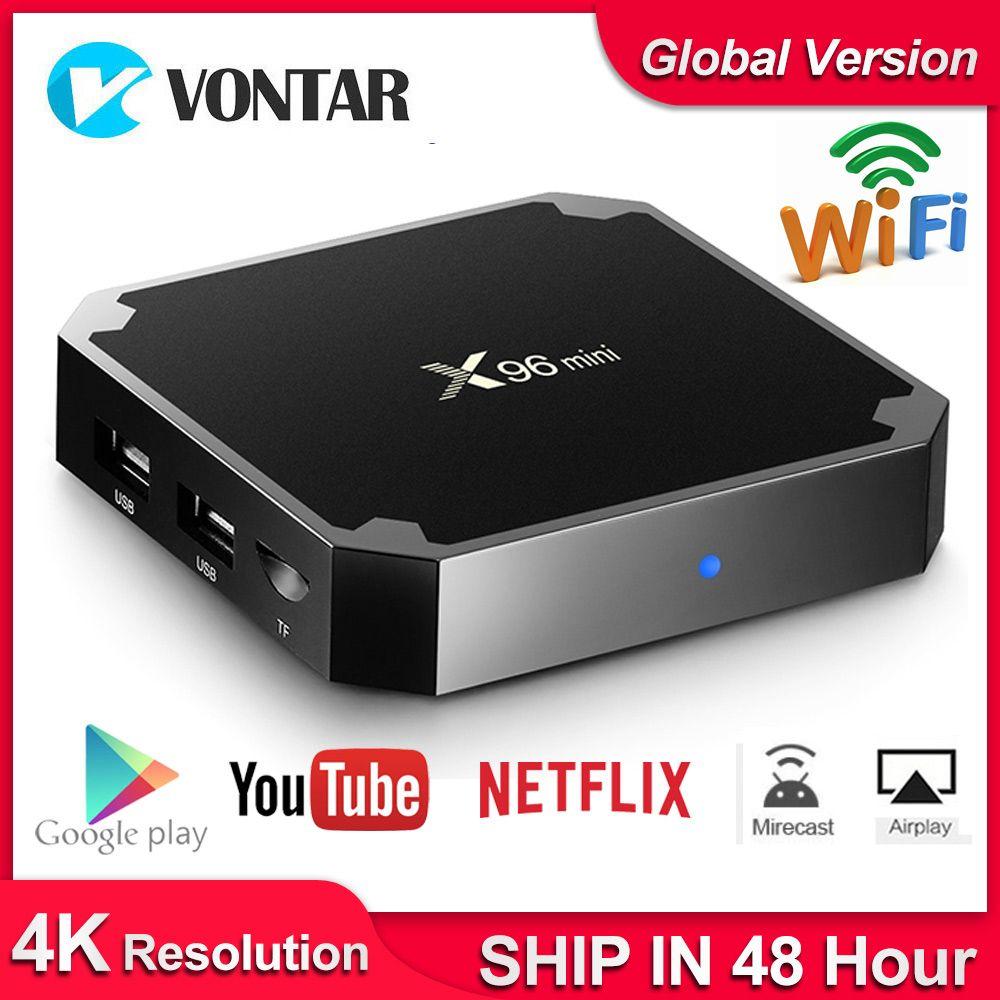 X96 mini X96mini Android 7.1 Smart TV BOX 2 GB/16 GB TVBOX X 96 mini Amlogic S905W H.265 4K 2.4GHz WiFi lecteur multimédia décodeur