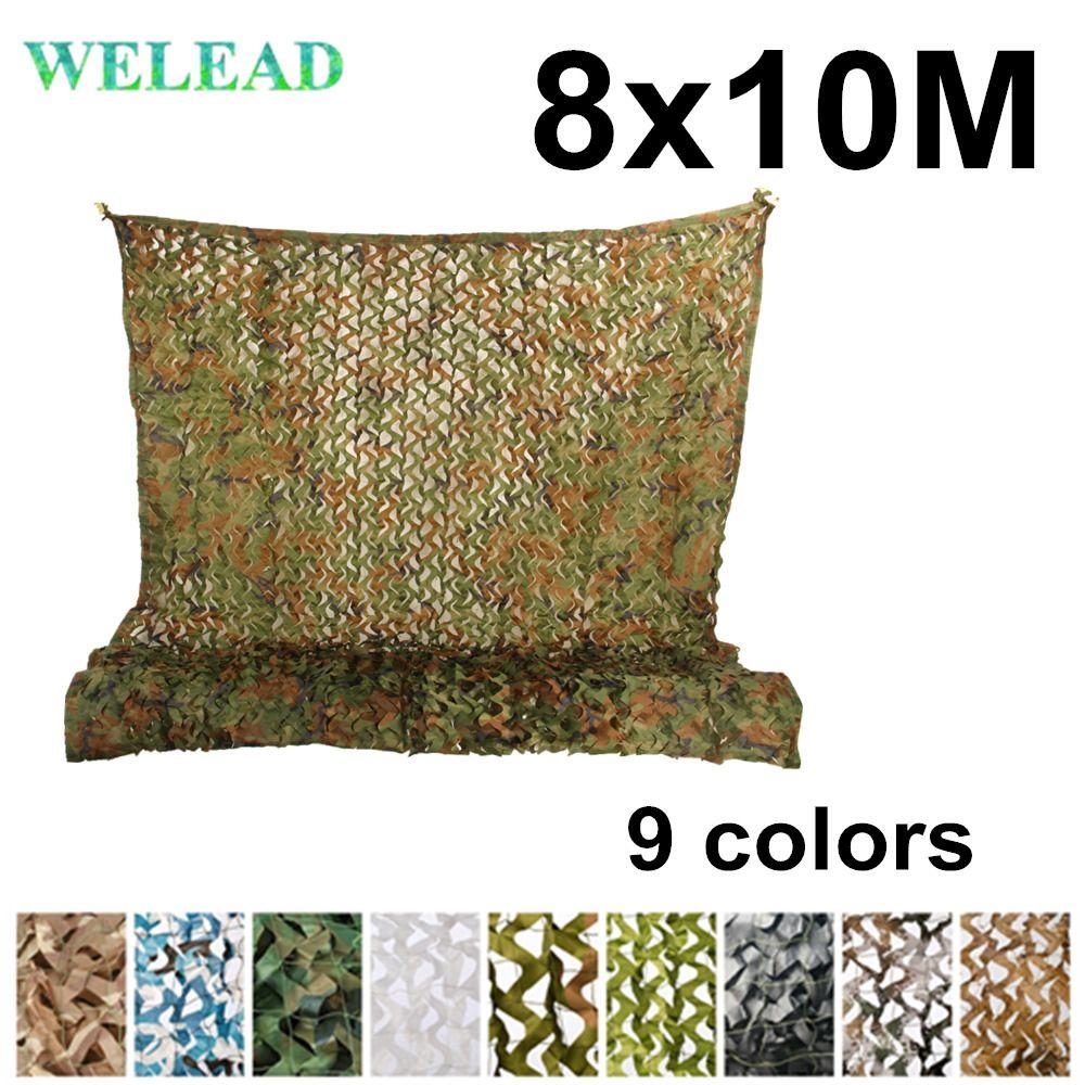 WELEAD 8x10M Verstärkt Camouflage Netze Military Wüste Weiß Freien Markise Garten Schatten Mesh Verstecken Abdeckung 8x10 10x8 8*10M 10*8M