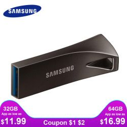 SAMSUNG USB Flash Drive Disk 32G 64G 128G 256G USB 3.1 Metal Mini Pen Drive Pendrive Memory Stick Storage Device U Disk