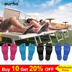 2PCS Waterproof Beach Insole Foot Stickers Sticky Pads Pool Sock Hypoallergenic Adhesive Foot Care Pads Men Women Adult Children