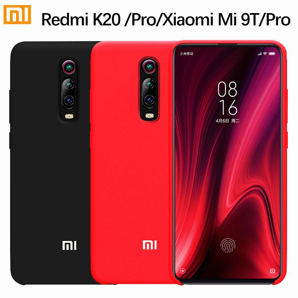 Xiaomi Mi 9T Redmi K20 Pro Case Original Liquid Silicone Soft Protection Cover Xiaomi Mi 9 SE Redmi Note 8 7 6 5 Pro 6A 7A Case