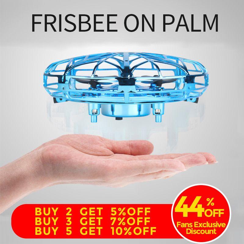 Anti-collision Mini Drone UFO main volant Globe quadrirotor main contrôle LED hélicoptère LED Induction volant balle avion RC jouets