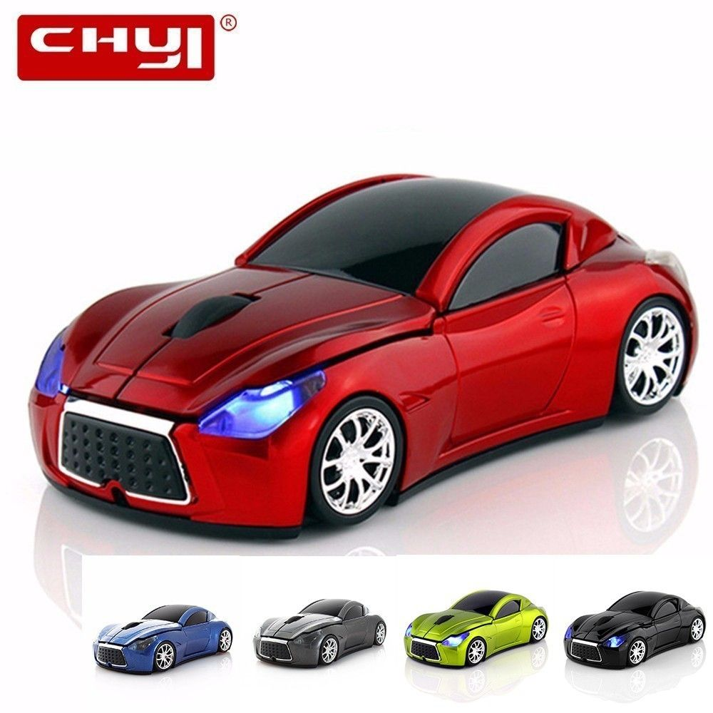 Ordinateur sans fil voiture forme souris Mini 3D ergonomique PC Gamer Mause optique Usb enfants cadeau LED de jeu Auto souris pour ordinateur portable Macbook