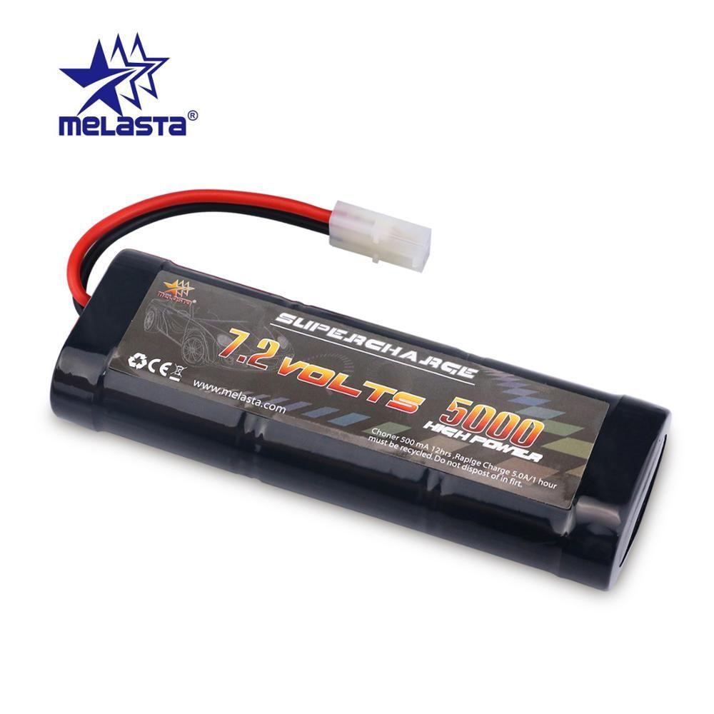 MELASTA 7.2V 5000mAh NiMH Rechargeable RC jouet batterie avec Tamiya/banane décharge connecteur pour RC voitures de course bateau avion