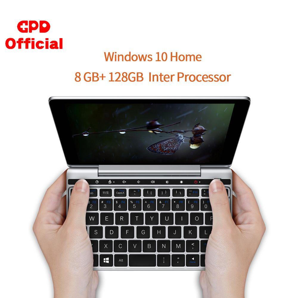 Original Neueste GPD Pocket2 Tasche 2 CPU m3-8100y 7 Zoll Touch Screen 8GB 128GB Mini Tasche Laptop notebook windows 10 System