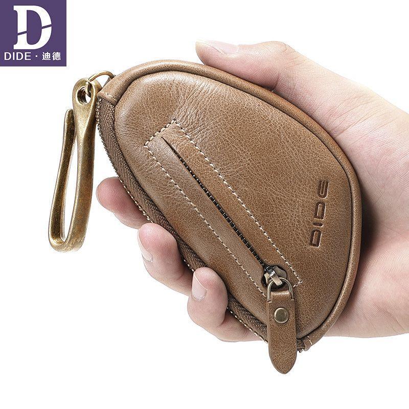 DIDE marque porte-clés Mini porte-monnaie en cuir véritable 2019 femme de ménage pour clés porte-monnaie porte-clés organisateur de porte-clés de voiture