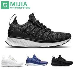 В наличии Xiaomi Sneaker 2 Mijia Беговая спортивная обувь Uni-moulding амортизирующая система блокировки рыбьей кости эластичный вязанный вамп для мужчин