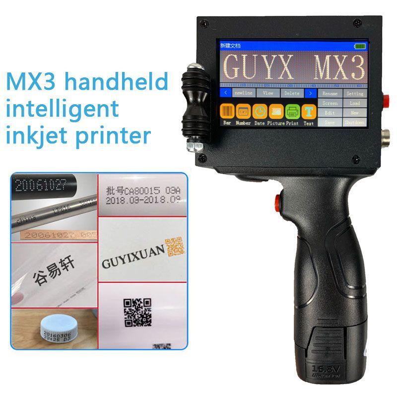 MX3 Handheld intelligente inkjet drucker Kleine maschine produkt datum lebensmittel verpackung code maschine charge anzahl sweep spray gun