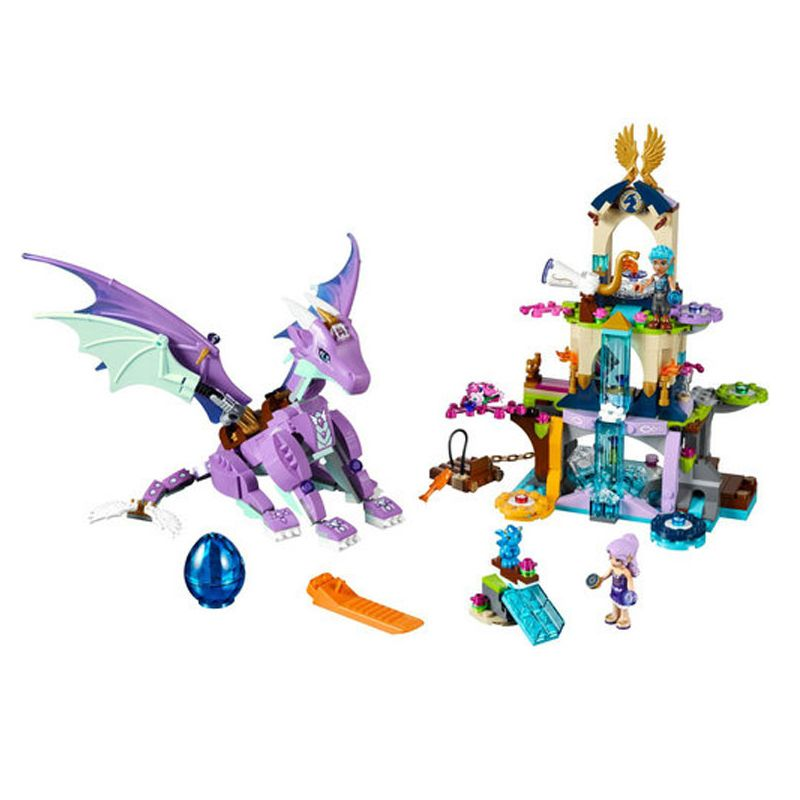 Bela Elves 10549 The Dragon Sanctuary Building Bricks Blocks DIY Educational Toys Compatible with 41178 Friends