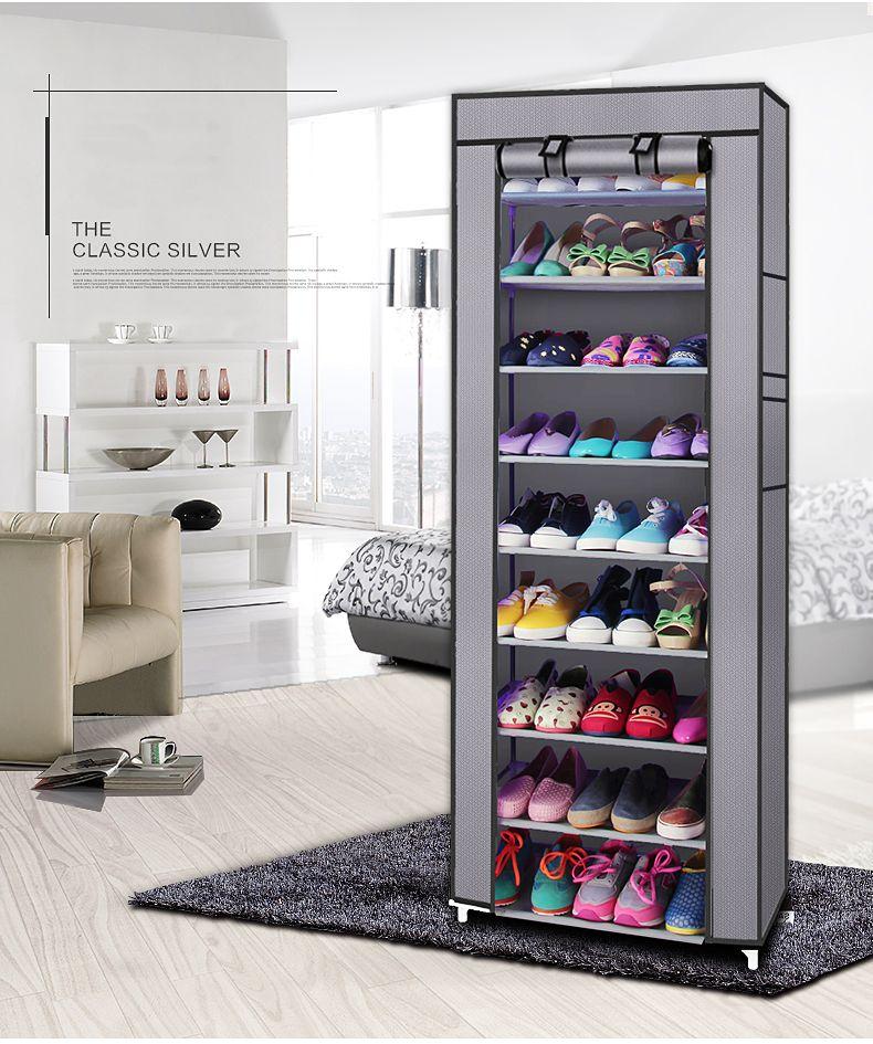 9 treillis étagère à chaussures étagère tour non tissé tissu organisateur de chaussures armoire de rangement pour chaussures économie d'espace rayonnage-Stock US