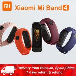 Оригинальный Xiaomi mi Band 4 mi band 4 Global Verion умный фитнес-браслет пульсометр 50 м плавание mi ng Водонепроницаемый Bluetooth 5,0