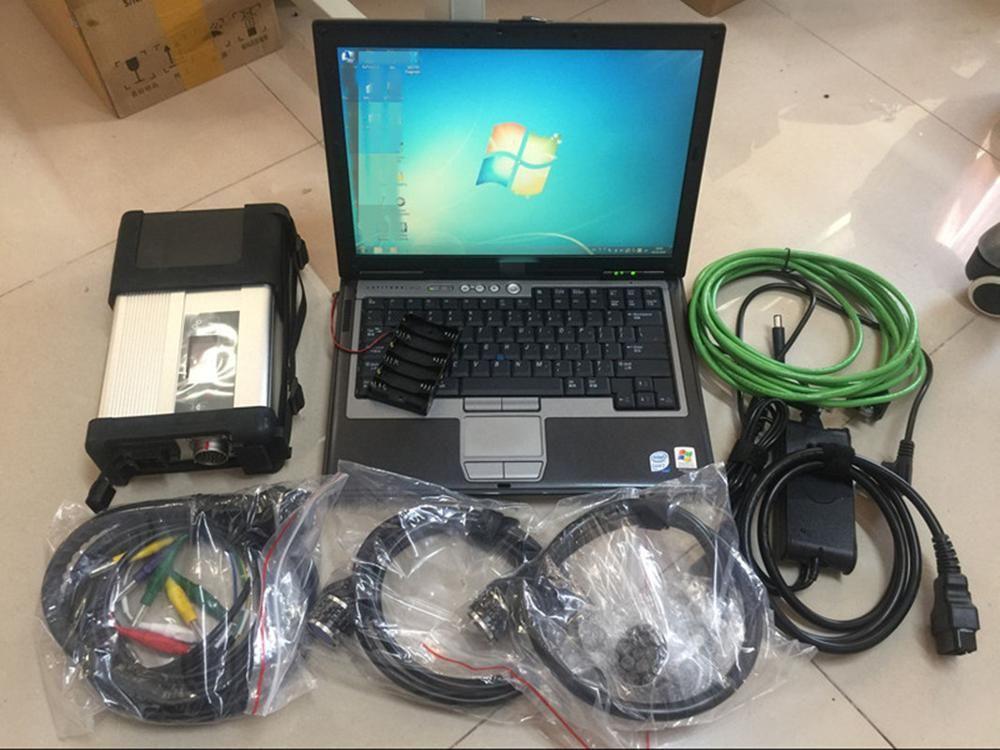 MB Stern C5 SD Verbinden C5 mit Software V09.2019 in 320GB HDD verwendet Laptop D630 Auto Stern Diagnose Werkzeuge für Mercedes Scanner