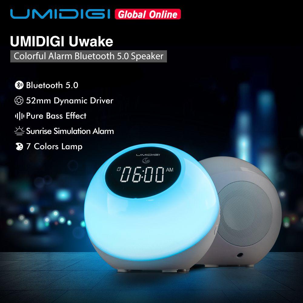UMIDIGI Uwake haut-parleur sans fil Bluetooth haut-parleur Portable LED Touches lampe stéréo musique Surround haut-parleur extérieur réveil