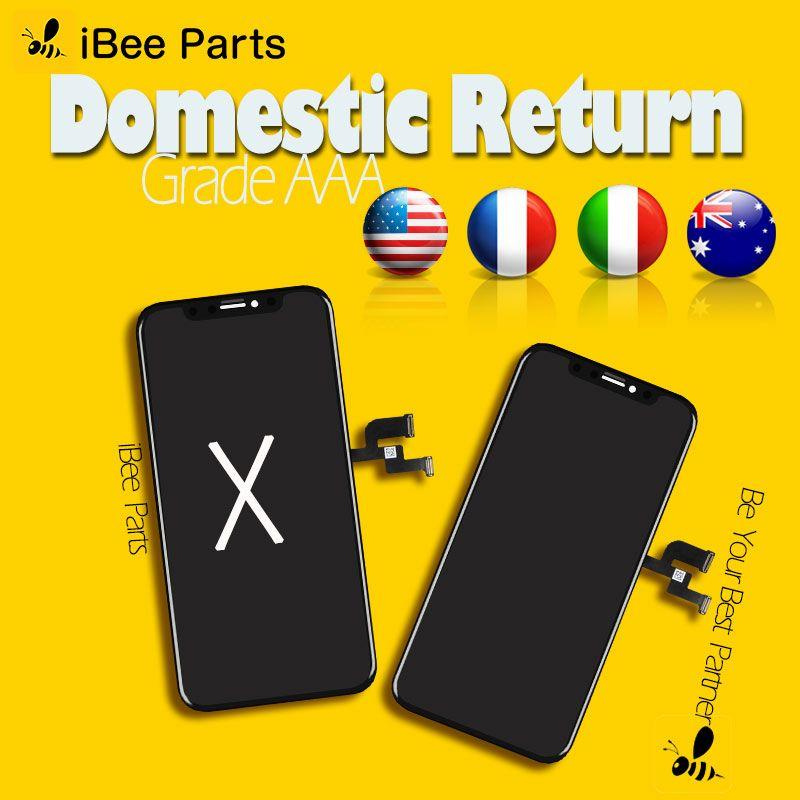 IBee pièces 1 pcs Amoled Oled écran pour iPhone X XS MAX XR LCD verre écran tactile assemblée remplacement cadre froid