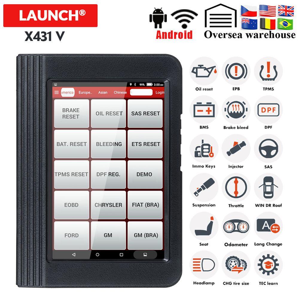 Launch Diagnose X431 V OBDII Diagnose Werkzeug Mit 11 Spezielle Funktion WiFi/Bluetooth x431 pro Update Freies Starten X431 scanner