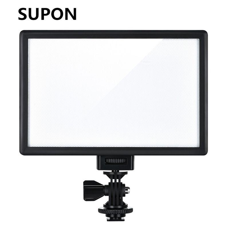 SUPON L122T LED lumière vidéo Ultra mince LCD bi-couleur et Dimmable DSLR Studio lumière LED panneau de lampe pour caméra DV caméscope