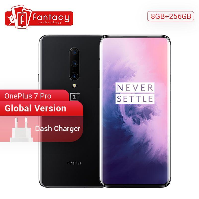 Globale Version Oneplus 7 Pro 8GB 256GB Smartphone Snapdragon 855 6,67 Zoll 90Hz 2K AMOLED Display fingerprint 48MP Kameras NFC