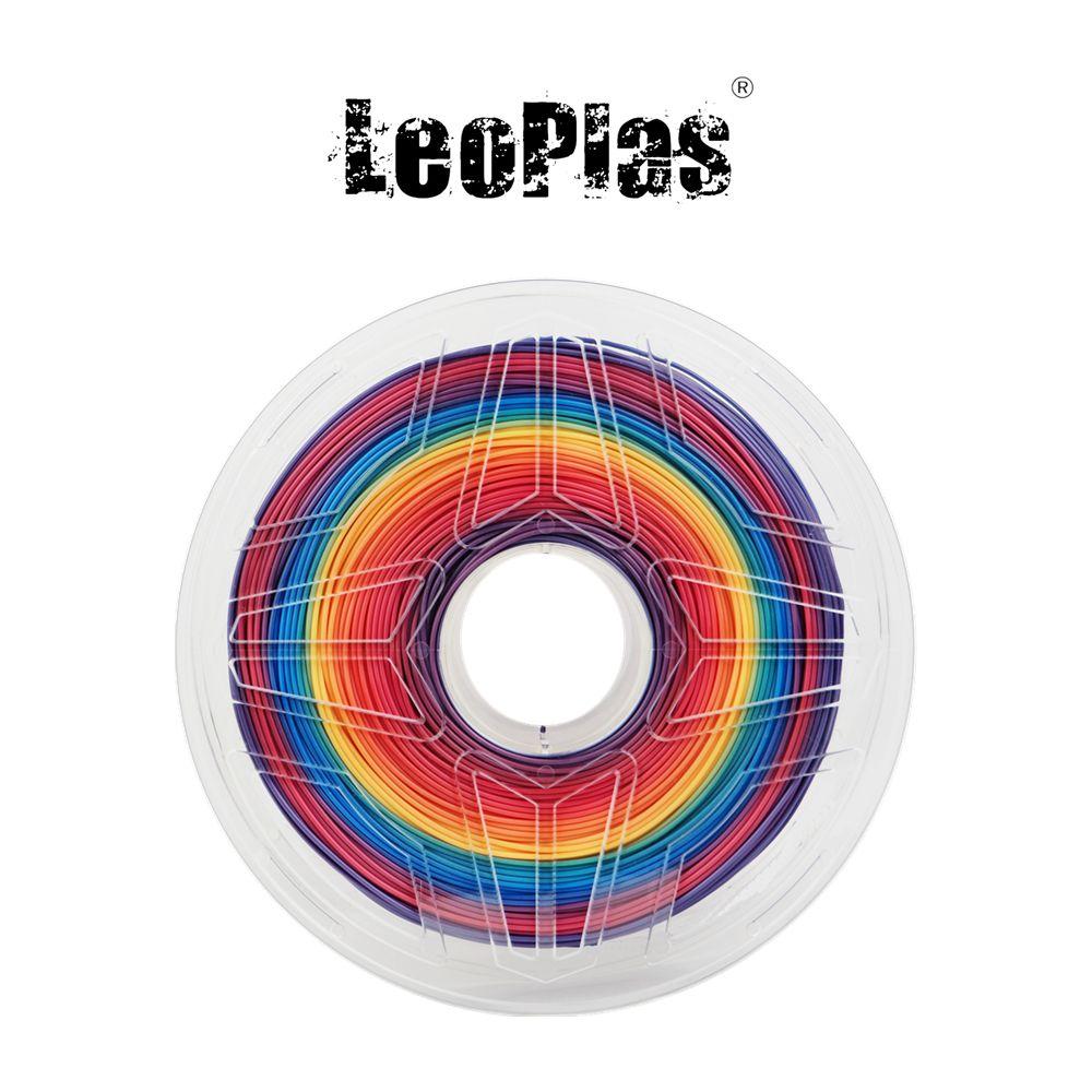 Dédouanement aux etats-unis espagne entrepôt 1.75mm 1kg multicolore arc-en-ciel PLA Filament 3D imprimante stylo matériel fournitures d'impression