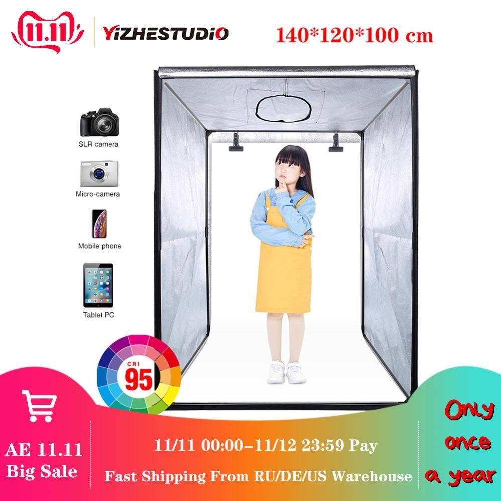 140*120*100 cm LED Professionelle Tragbare Studio Weichen Box LED Foto Studio Video Beleuchtung Zelt für Trolley fall kinder kleiden