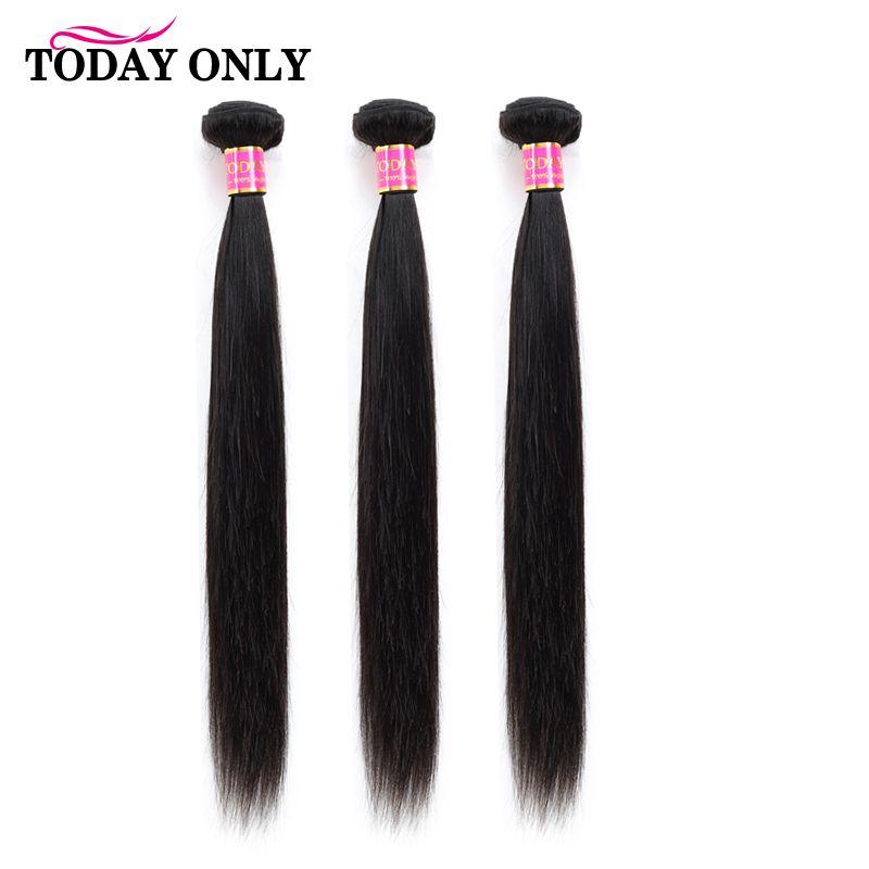 Aujourd'hui seulement péruvien cheveux raides 3 paquets 100% Remy cheveux humains paquets Extension de cheveux couleur naturelle 8-26 pouces livraison gratuite
