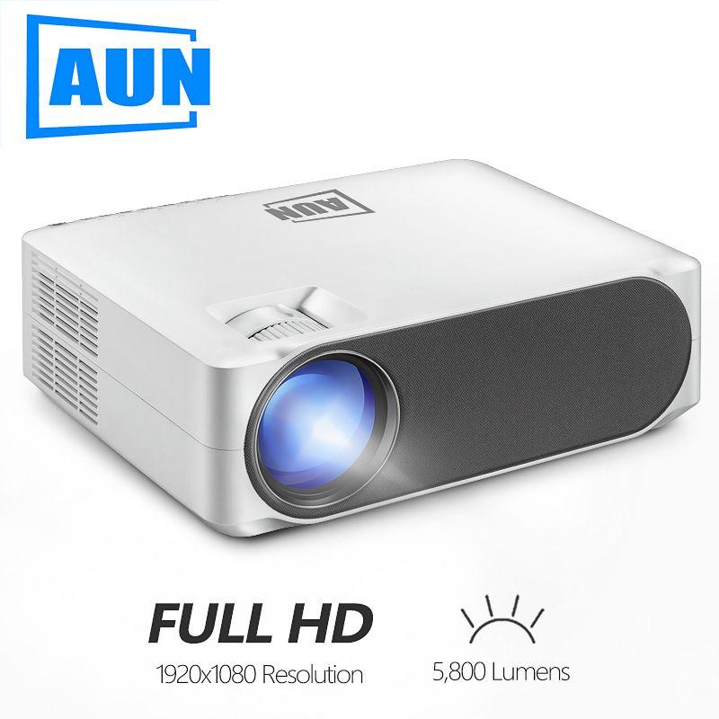 AUN Full HD projecteur AKEY6, 1920x1080 P, 5800 Lumens, intégré système multimédia projecteur vidéo, projecteur LED pour Home cinéma