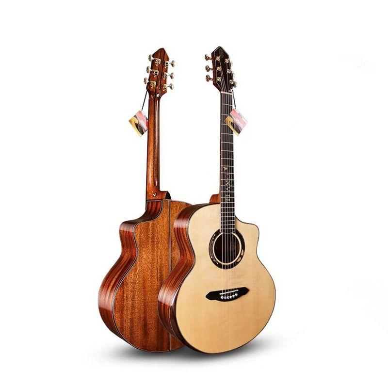 Professionelle Volle Feste Gitarre, 41 Cutaway Jumbo gitarre mit Solid Fichte Top/Solide Mahagoni Körper, gitarren china, TA-JC32A