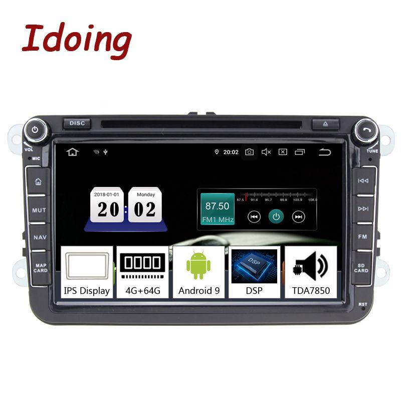 Idoing 8 2 din Auto Android 9.0 Radio Player Universal Für Volkswagen Skoda Sitz 4G + 64G Octa core IPS GPS Navigation Multimedia
