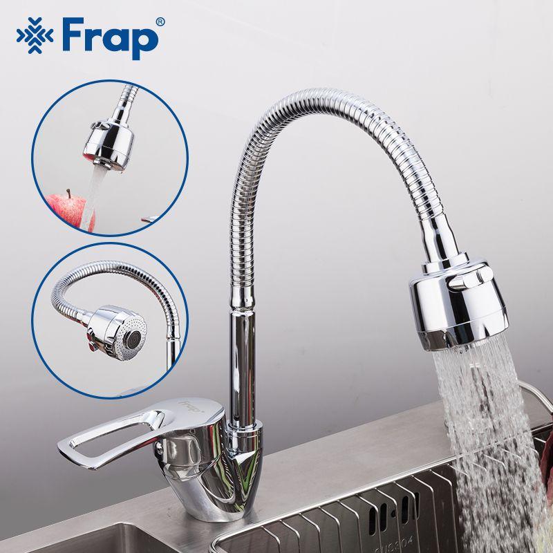 FRAP mélangeur de cuisine solide robinet de cuisine flexible froid et chaud mitigeur trou robinet d'eau robinet de cuisine Torneira Cozinha F43701-B