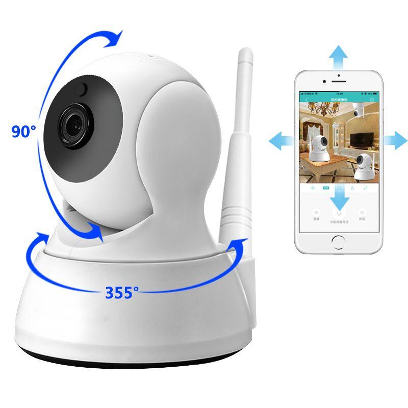 Caméra IP sécurité à domicile Audio bidirectionnel HD 720P sans fil Mini caméra 1MP Vision nocturne CCTV WiFi caméra bébé moniteur
