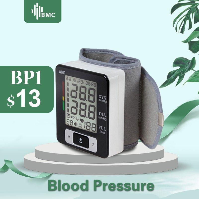Moniteur de pression artérielle numérique de poignet BMC sphygmomanomètre automatique Machine médicale intelligente mesure mesure de la fréquence cardiaque mesure de la condition physique