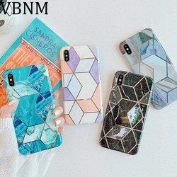 Luxury Rhombus Marble Phone Case For iPhone 11 Case 11 Pro Max Soft Silicone Cover For iPhone XR X XS Max 6 6S 7 8 Plus Case