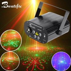 Double Colors Laser Party Lights with graphics Disco Light and Music Equipment dj stage lumiere Remote Control Soundlights
