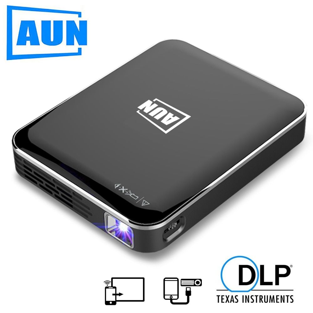 AUN MINI Projector X3, Android/IOS Phone Screen Mirroring, Multimedia system, Portable projector for 1080P Home Cinema,3D beamer
