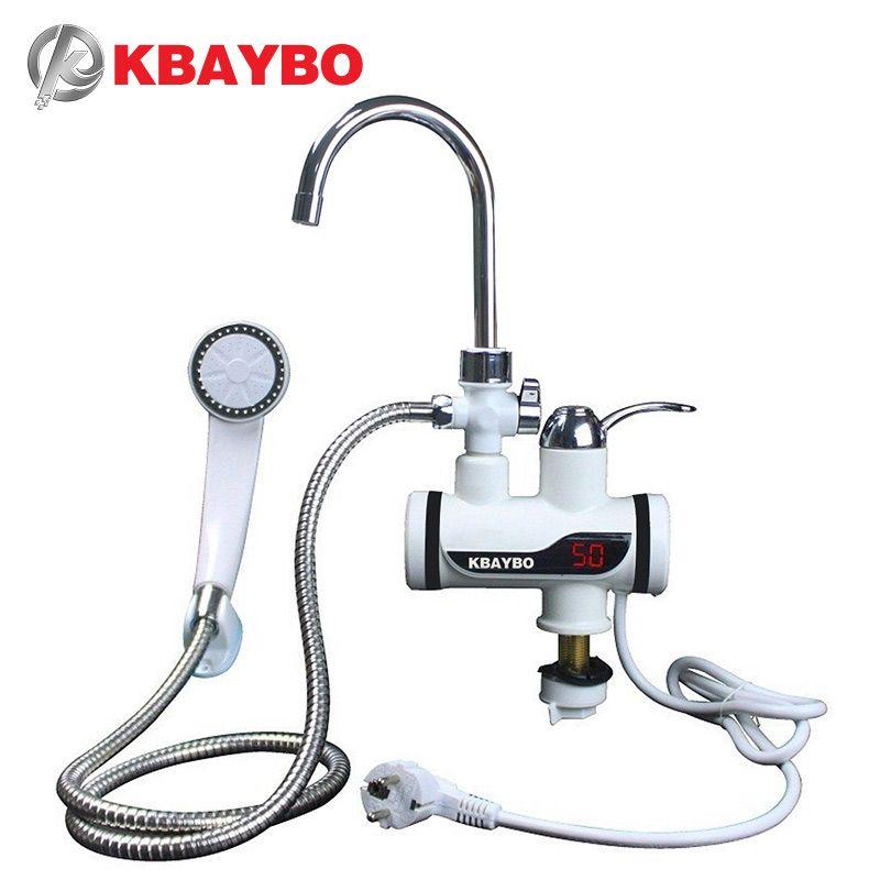 3000W instantané électrique douche chauffe-eau instantané robinet chaud cuisine électrique robinet eau chauffage instantané chauffe-eau