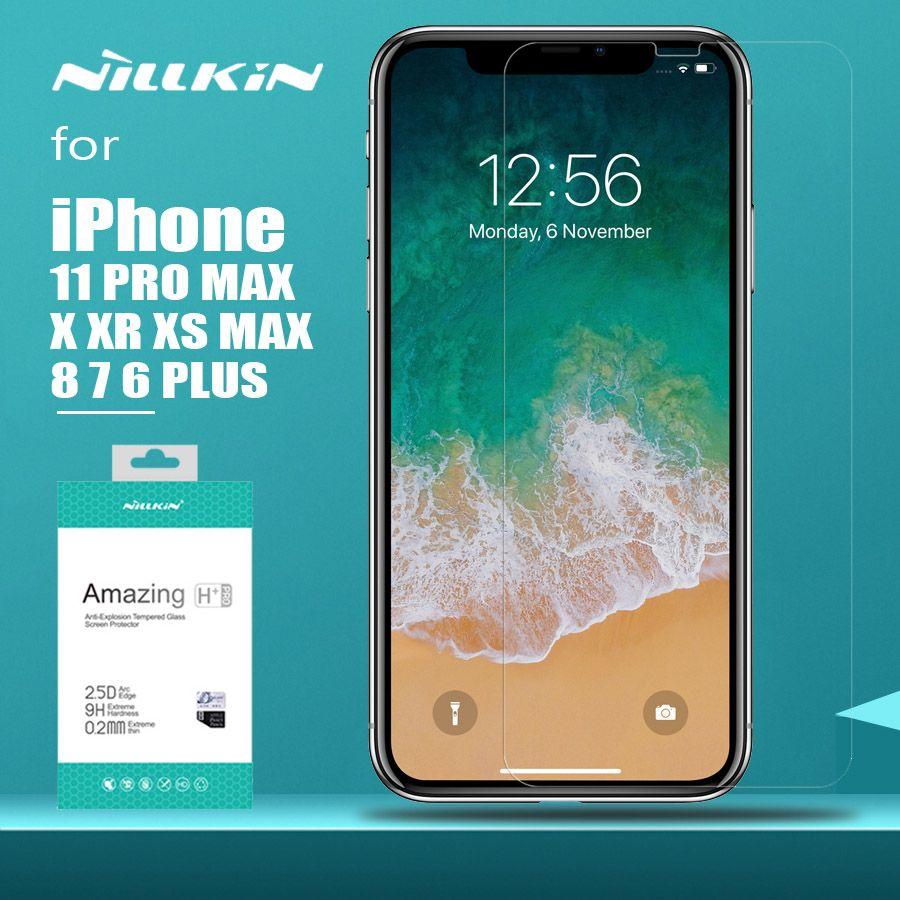 Pour iPhone 11 Pro Max XS MAX XR Nillkin H + Pro verre trempé protecteur d'écran pour iPhone 11 Pro XR X XS Max 6 6S 7 8 Plus verre