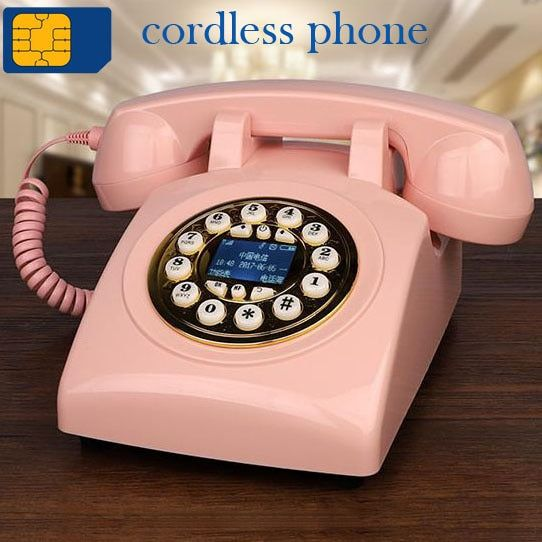 900MHz 1800MHz GSM SIM Karte Feste antike Telefon corldless retro Drahtlose Telefon home office hotel rot schwarz wohnzimmer zimmer