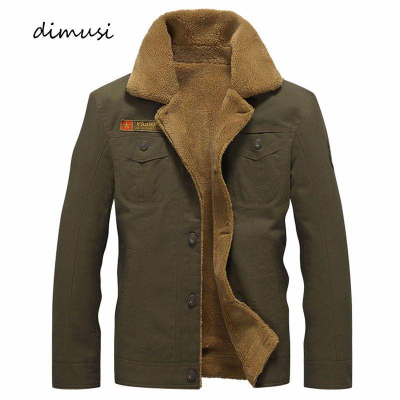 DIMUSI veste d'hiver hommes polaire militaire chaud vestes mâle fourrure col manteaux armée tactique veste Jaqueta Masculina 5XL, PA061